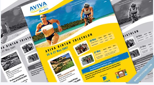 Aviva Bintan Triathlon 2007 - Print Ad Design