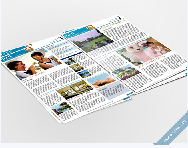 Blue - Newsletter design