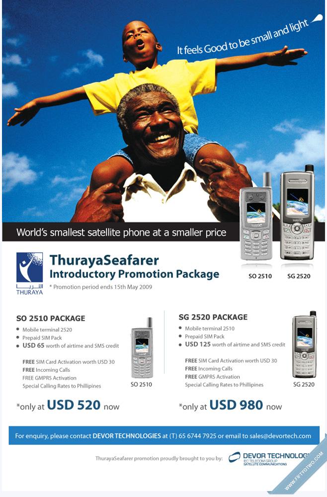 Thuraya Print Ad