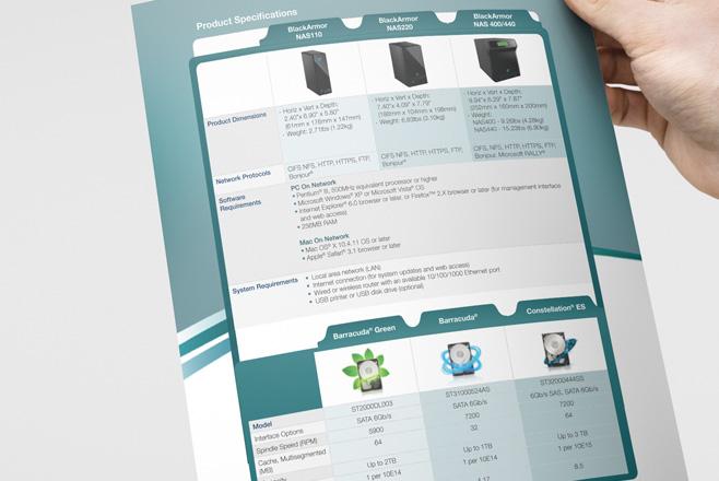 Seagate Brochure Design